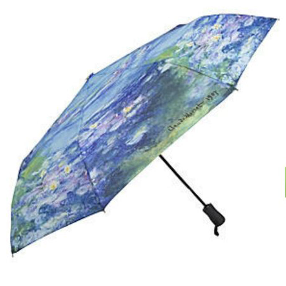 Galleria Art Print Auto Folding Umbrella - Claude Monet 'Water Lilies'