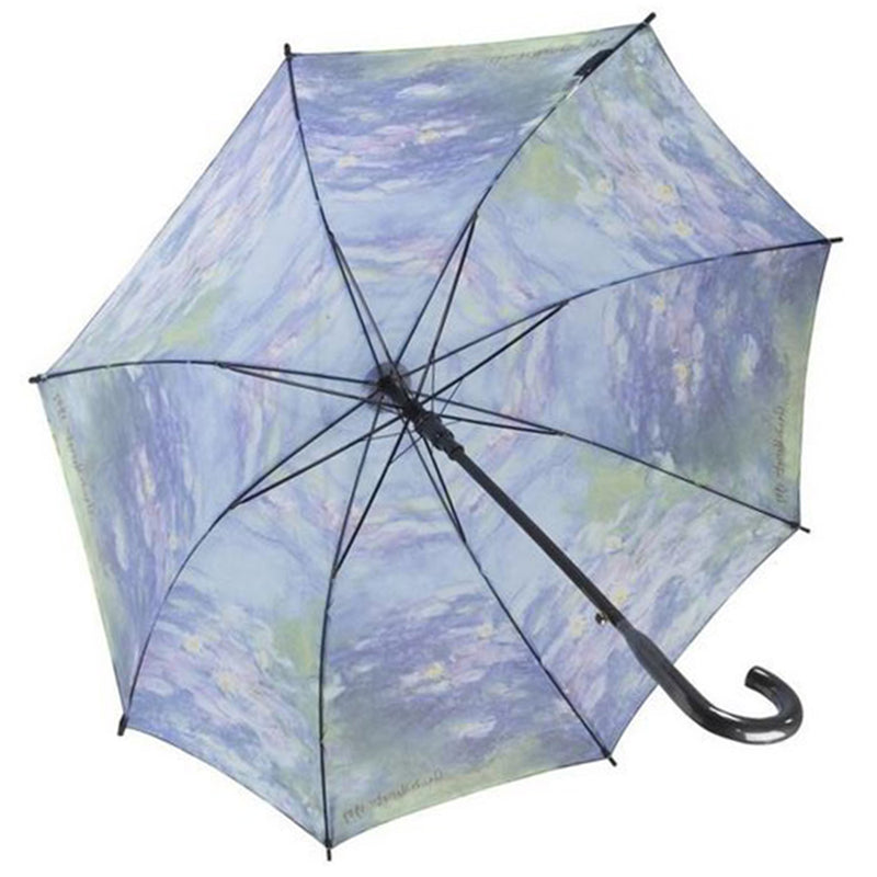 Galleria Art Print Auto Walking Umbrella - Claude Monet 'Water Lilies'