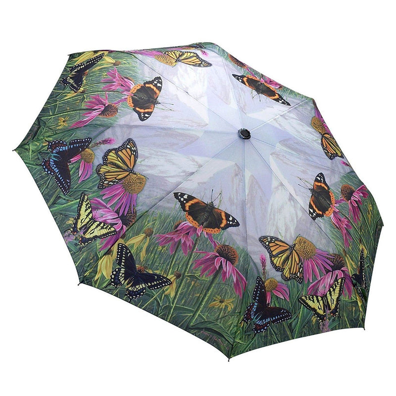 Galleria Automatic Folding Umbrella - Mountain Butterfly
