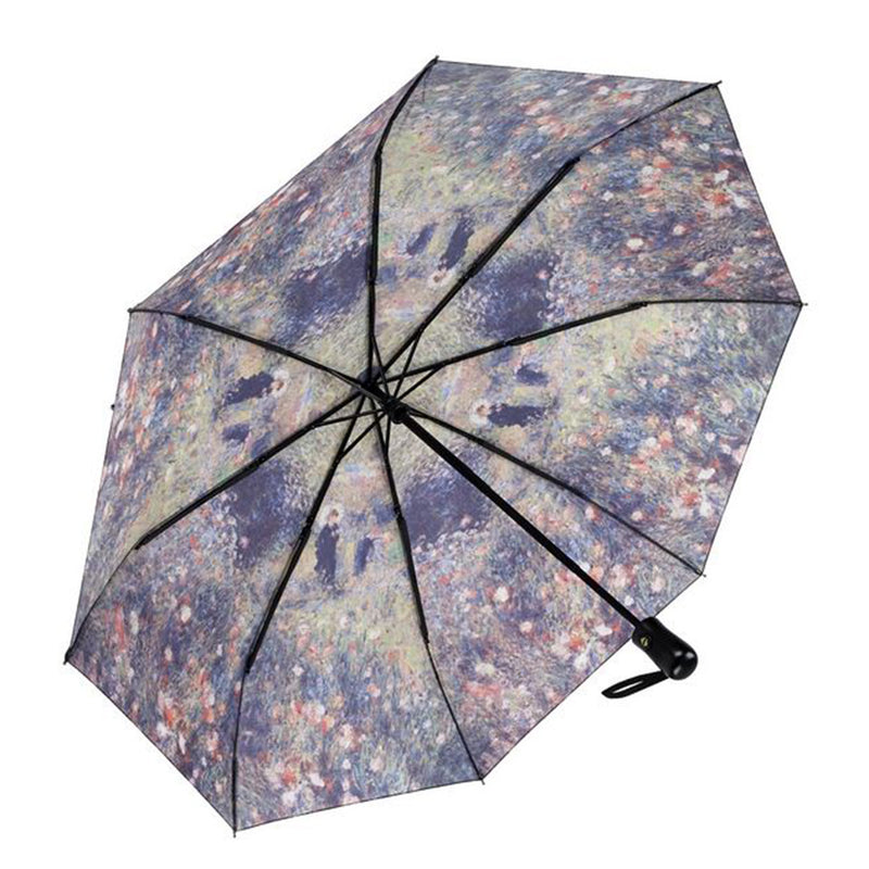 Galleria Art Print Auto Folding Umbrella - Renoir Woman With Parasol