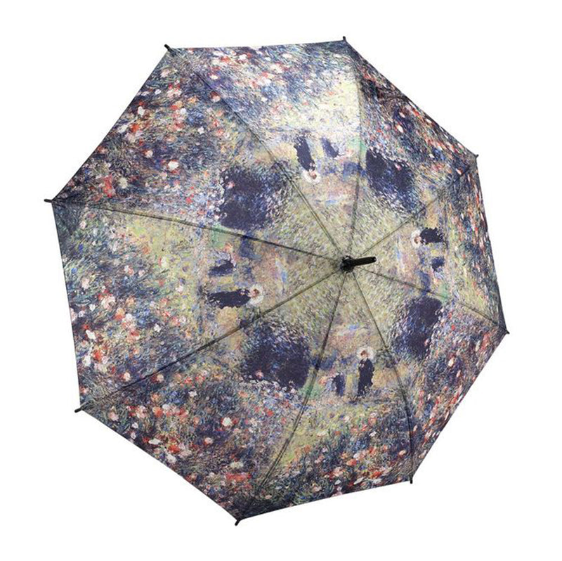 Galleria Art Print Auto Walking Umbrella - Renoir Woman with Parasol