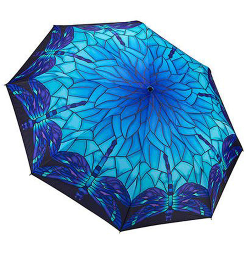 Galleria Automatic Folding Umbrella - Stained Glass Dragonfly