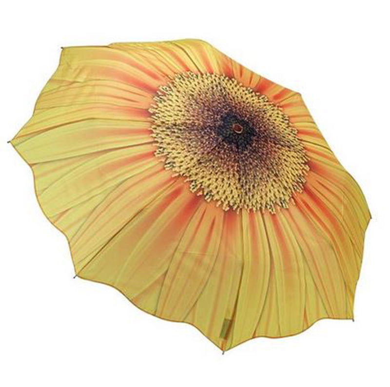 Galleria Floral Automatic Folding Umbrella - Sunflower Bloom