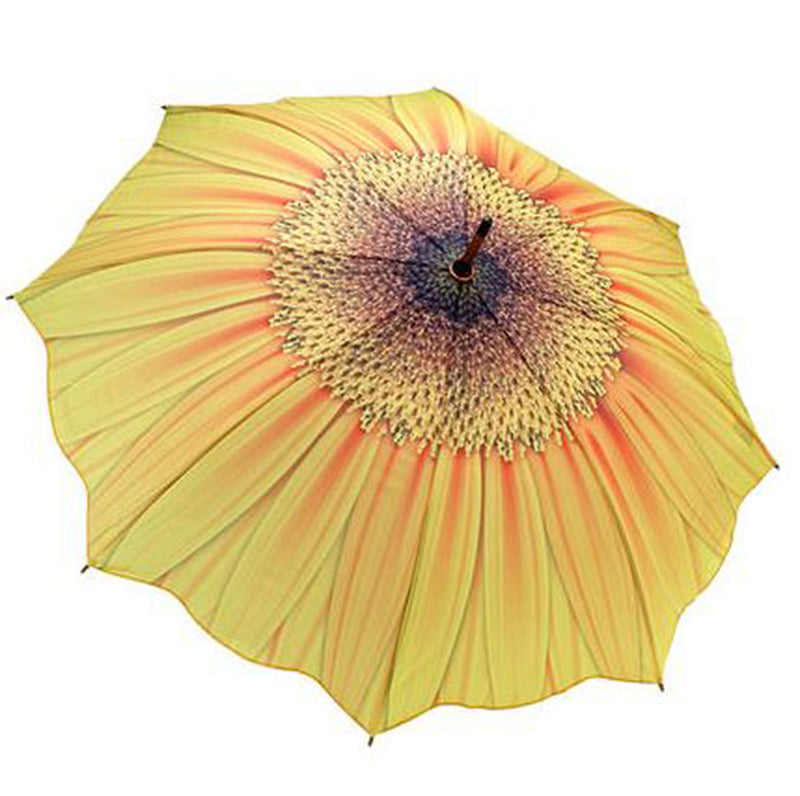 Galleria Floral Automatic Walking Umbrella - Sunflower Bloom