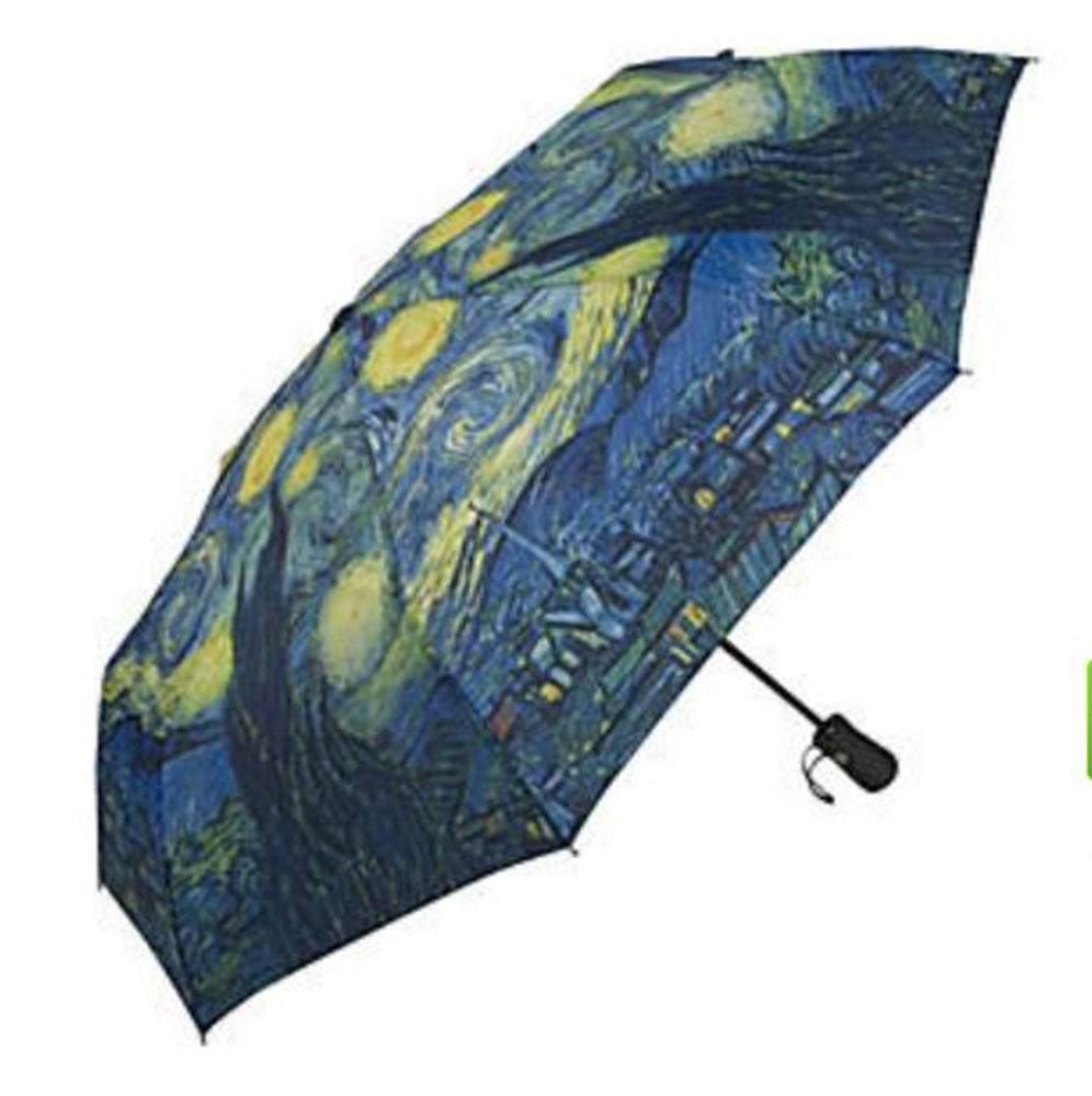 Galleria Art Print Auto Folding Umbrella - Van Gogh 'Starry Night'