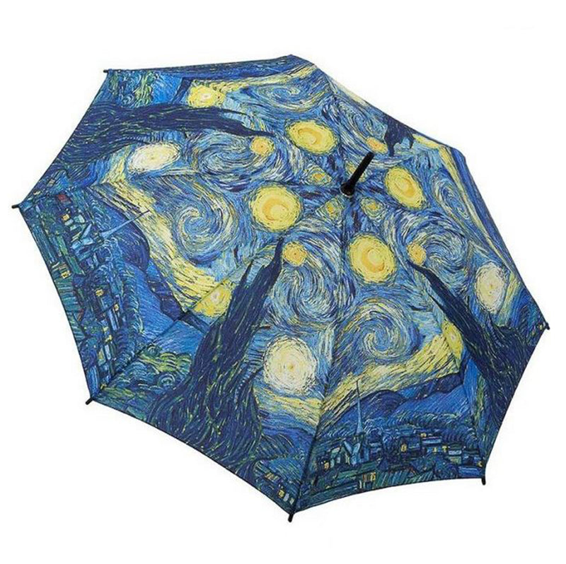 Galleria Art Print Auto Walking Umbrella - Van Gogh 'Starry Night'