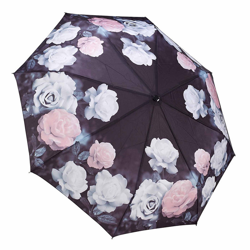 Galleria Floral Auto Folding Umbrella - Vintage Roses