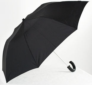 The Guy Leatherette Handle Folding Umbrella - Black