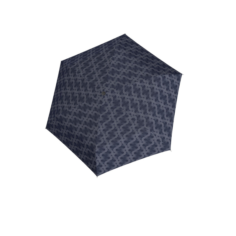 Carbon Steel Mini Slim Folding 'Glow' umbrella - Blue