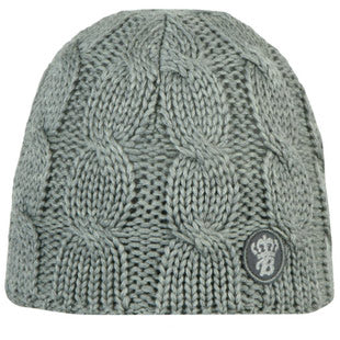 Barts Childrens 'Cable Beanie' Heather Grey Winter Hat