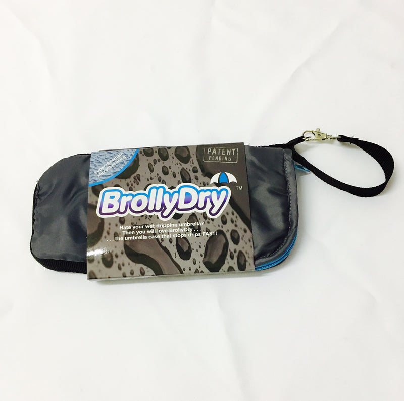 BrollyDry Folding Umbrella Case - New Colours - Grey / Blue