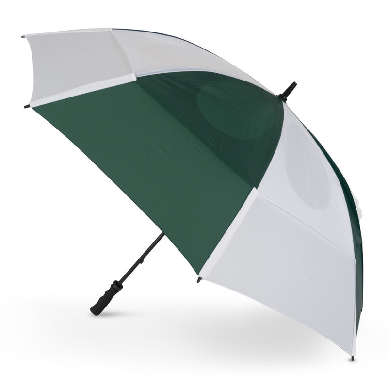 GustBuster Golf Umbrella Pro Series 62 Hunter Green & White