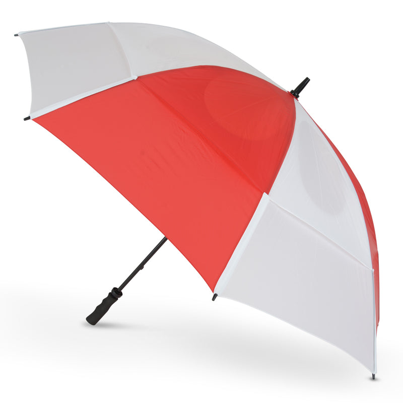 GustBuster Golf Umbrella Pro Series 62 Red & White