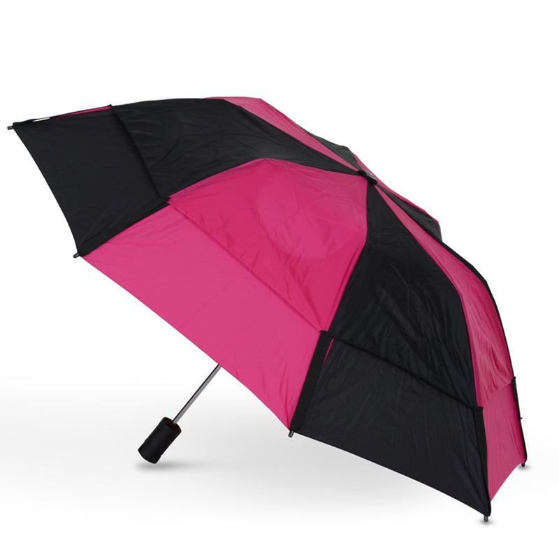 GustBuster Metro Auto Folding Vented Umbrella  (2 Tone)