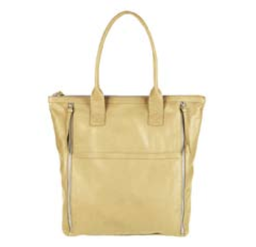Markberg Yellow 'Henriette' Large Leather Work Bag