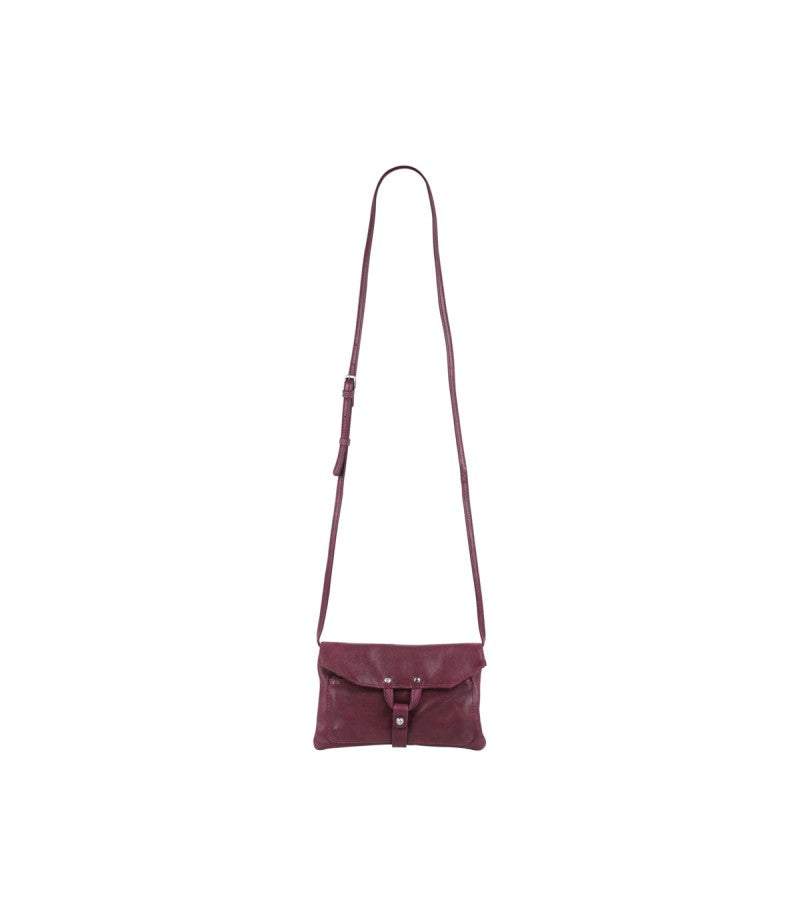 Markberg 'Hilary' Wine Red Cross Body Leather Handbag