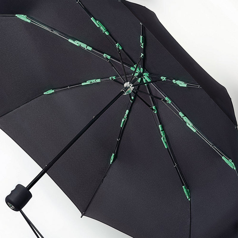 Fulton Performance 'Hurricane' Large Span Folding Umbrella - Black