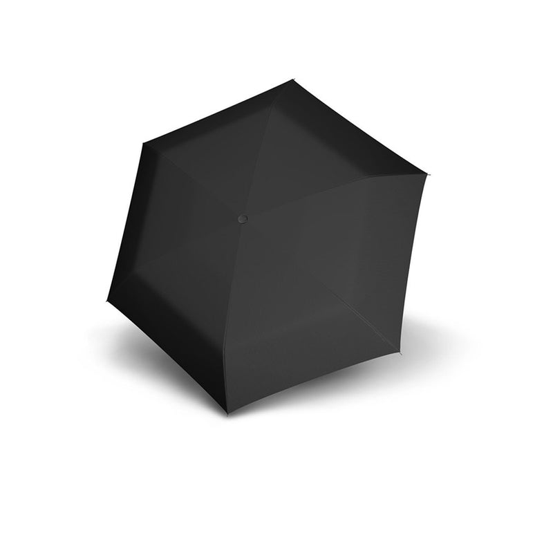 Carbon Steel Mini Slim Folding Umbrella - Black