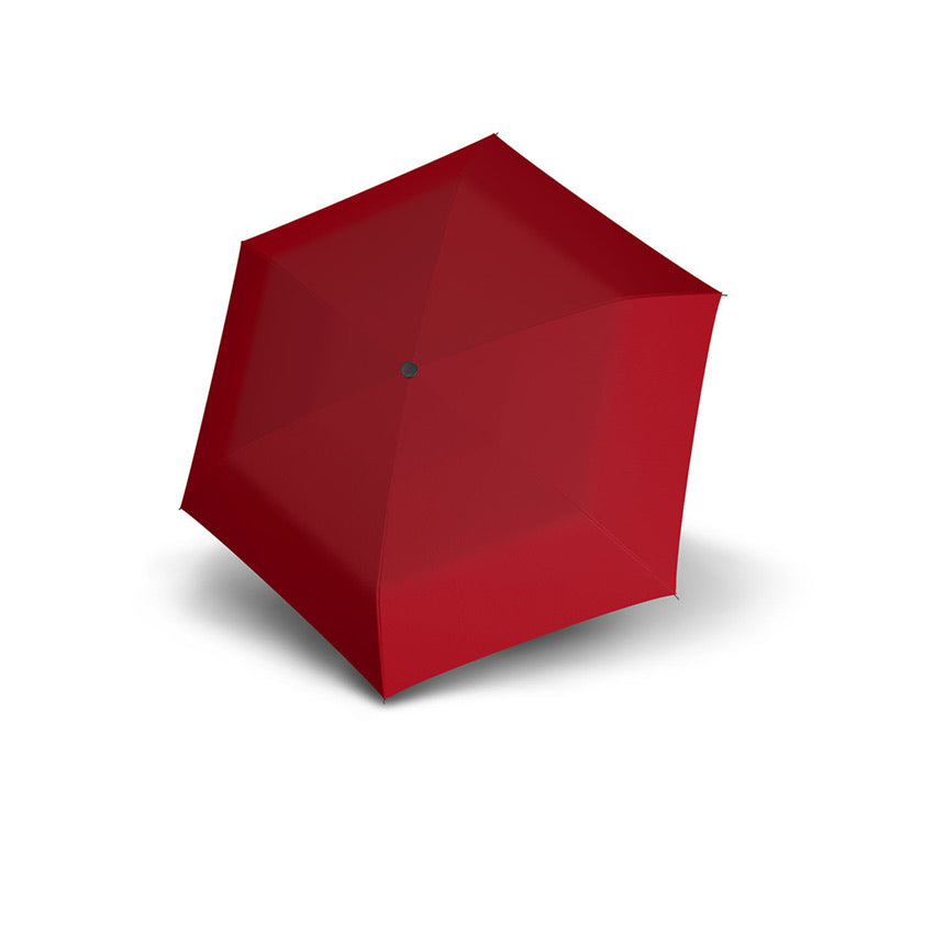 Carbon Steel Mini Slim Folding Umbrella - Red
