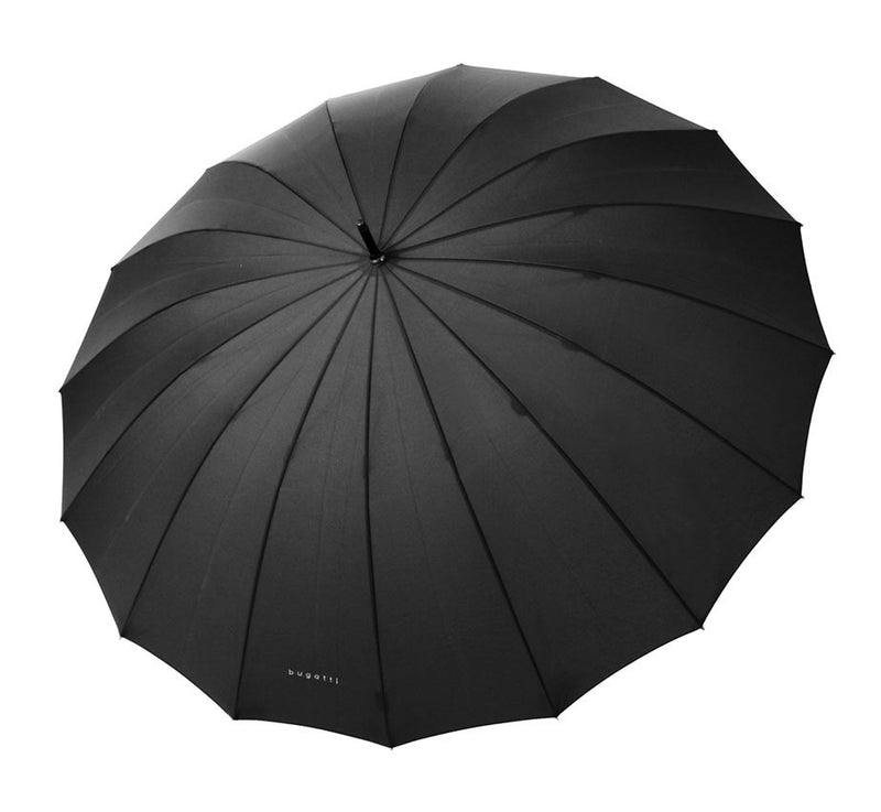 Bugatti Doorman Golf Umbrella with Chestnut Handle -Black