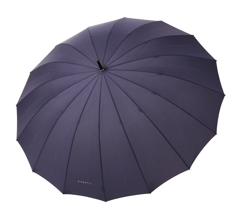 Bugatti Doorman Golf Umbrella with Chestnut Handle - Navy