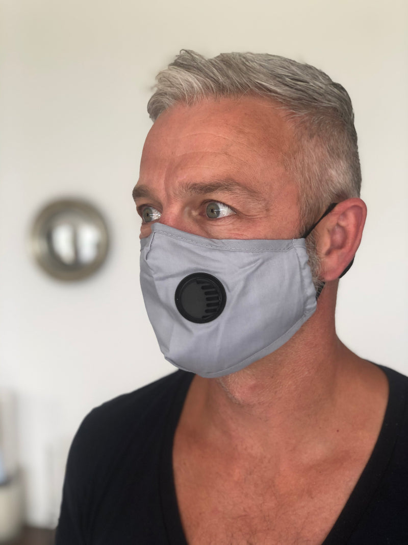 Adults Vented Fashion Face Masks - Various Colours