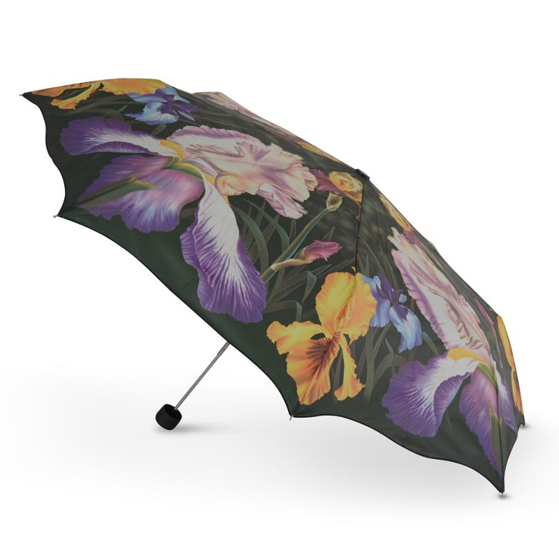 Cascada Collection Iris Scalloped Floral Folding Umbrella