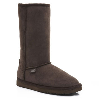Just Sheepskin Classic Tall Chocolate Ladies Boots Size 6