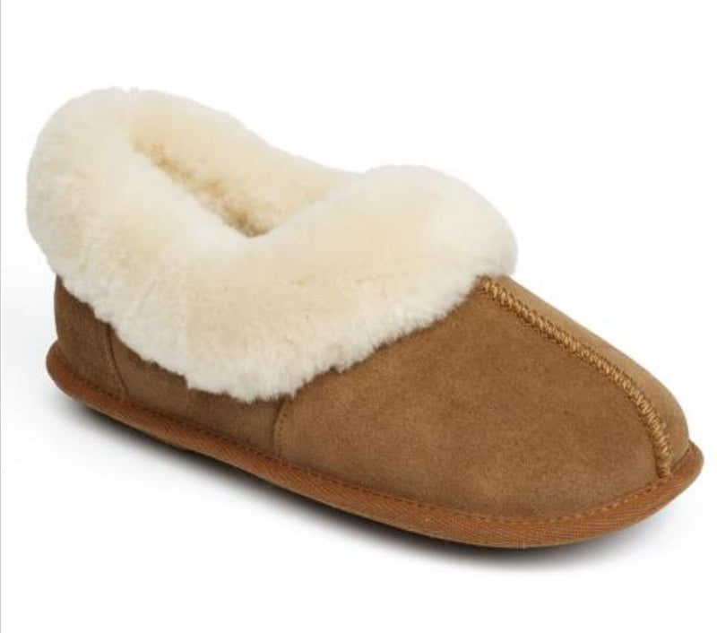 Just Sheepskin Classic Ladies Chestnut Slipper, Size 5 - 6