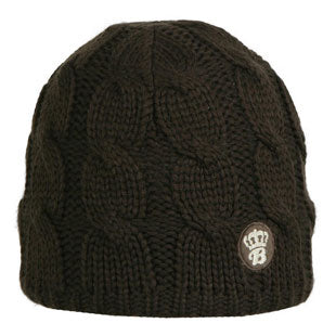 Barts Childrens 'Cable Beanie' Brown Warm Winter Hat,