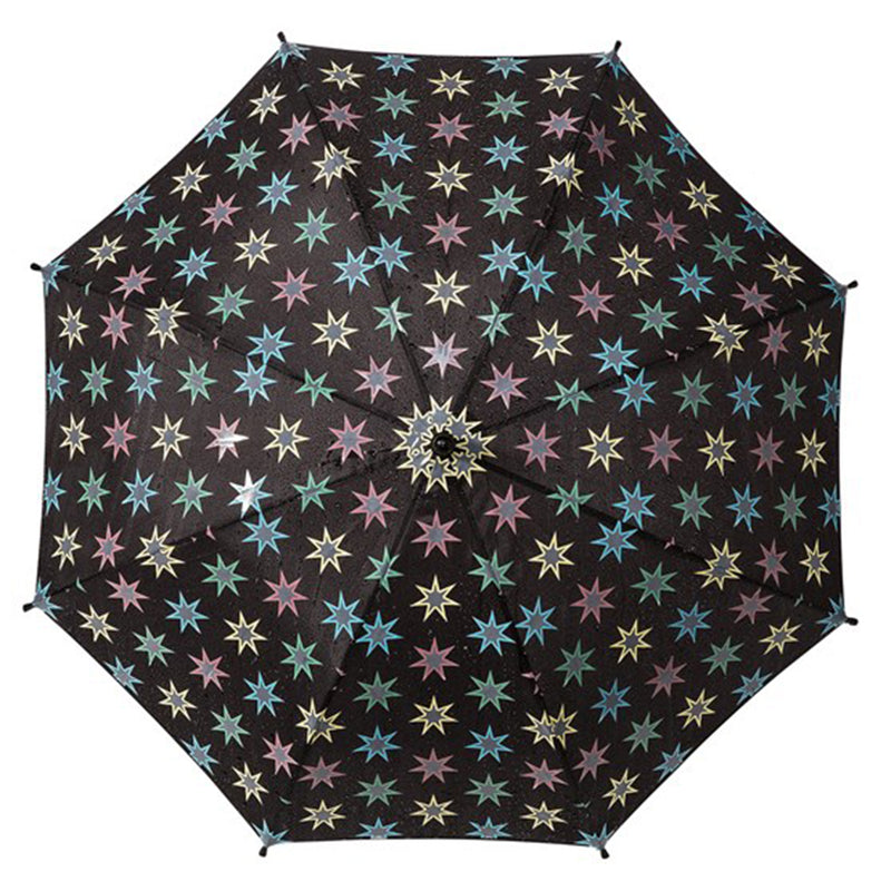 Children's Water Reactive Colour Change 'Stars' Umbrella