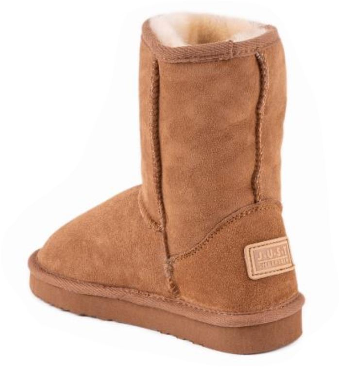Children's Classic Just Sheepskin Boots - Chestnut Size 9