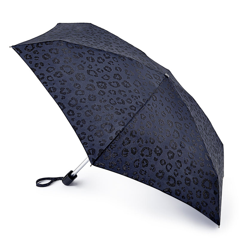 Fulton Tiny Folding Umbrella - Glitter Leopard