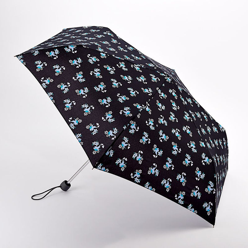 Fulton Superslim Folding Umbrella - Sweetheart Birdy