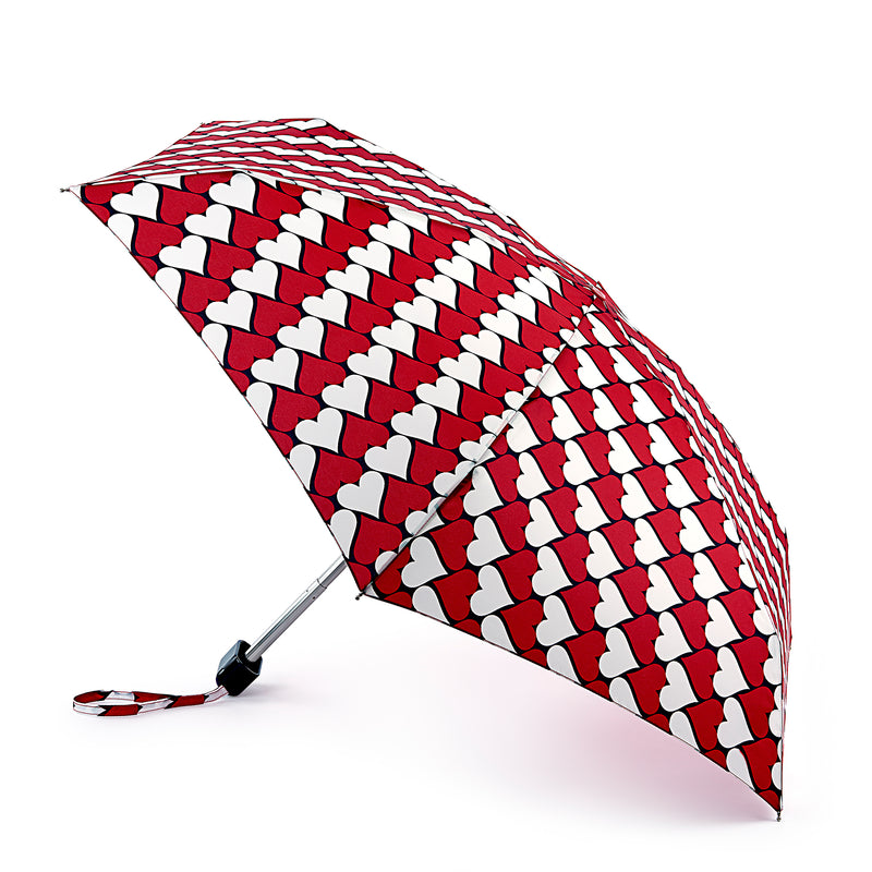 Lulu Guinness Kissing Hearts Folding Umbrella