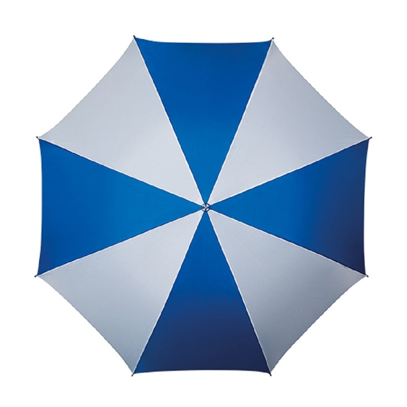 The Kastra Hook Handle Walking Umbrella- Blue and White