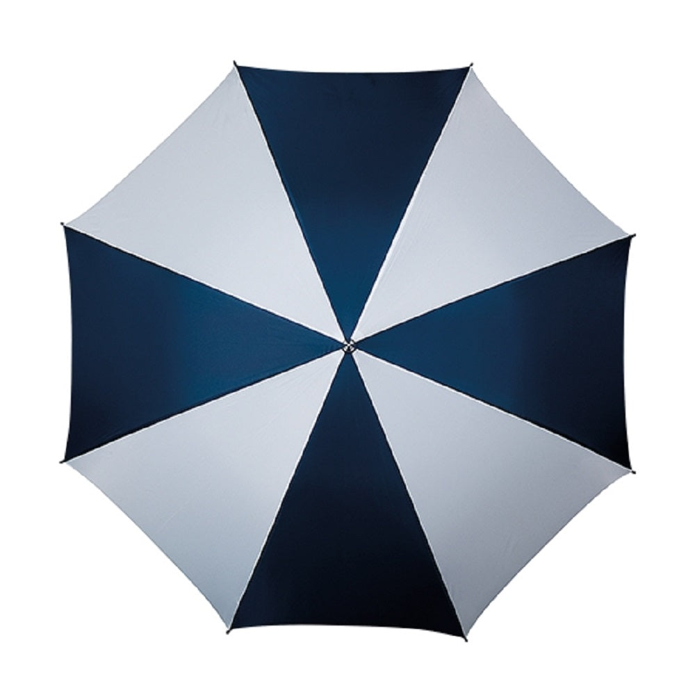 The Kastra Hook Handle Walking Umbrella- Navy and White