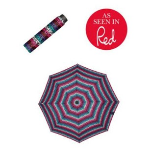 S.Oliver Enjoy Folding Umbrella in Letter Stripe Multi Colour