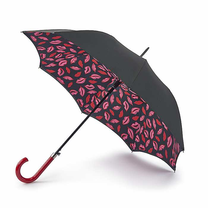 Lulu Guinness Bloomsbury Automatic Walking Umbrella - Marker Pen Lip