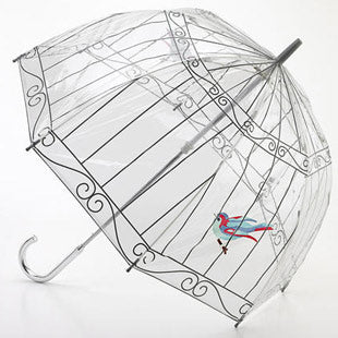Lulu Guinness Designer Clear Birdcage Umbrella - Bird Cage