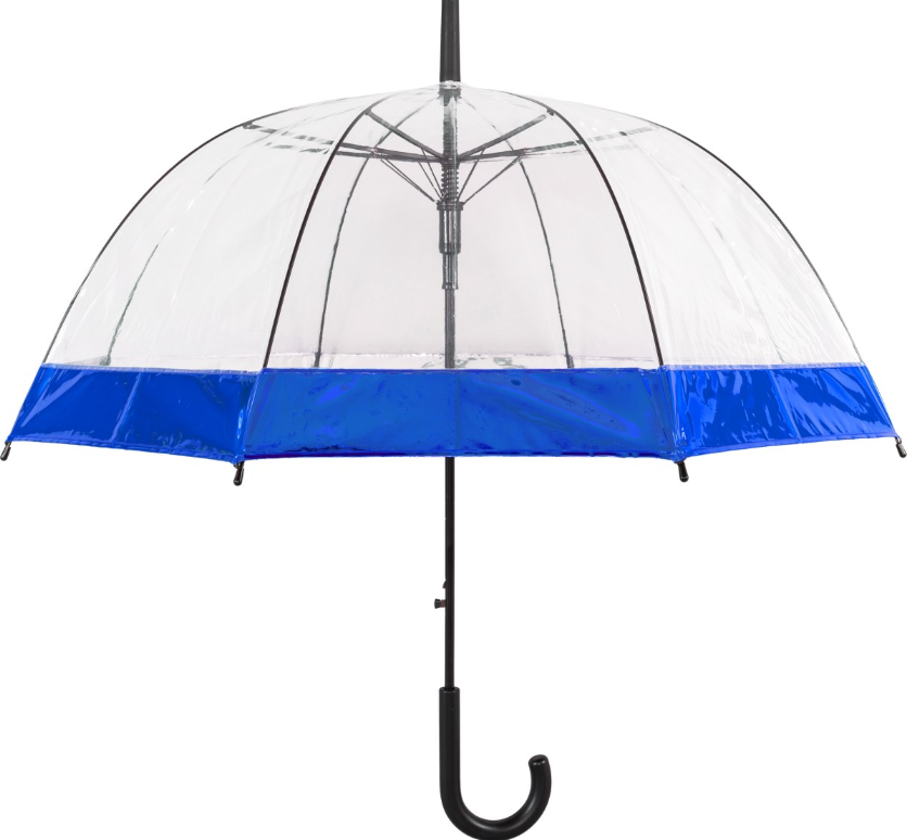 Susino Metallic Border Auto Dome Umbrella - Blue