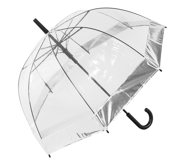 Susino Metallic Border Auto Dome Umbrella - Silver