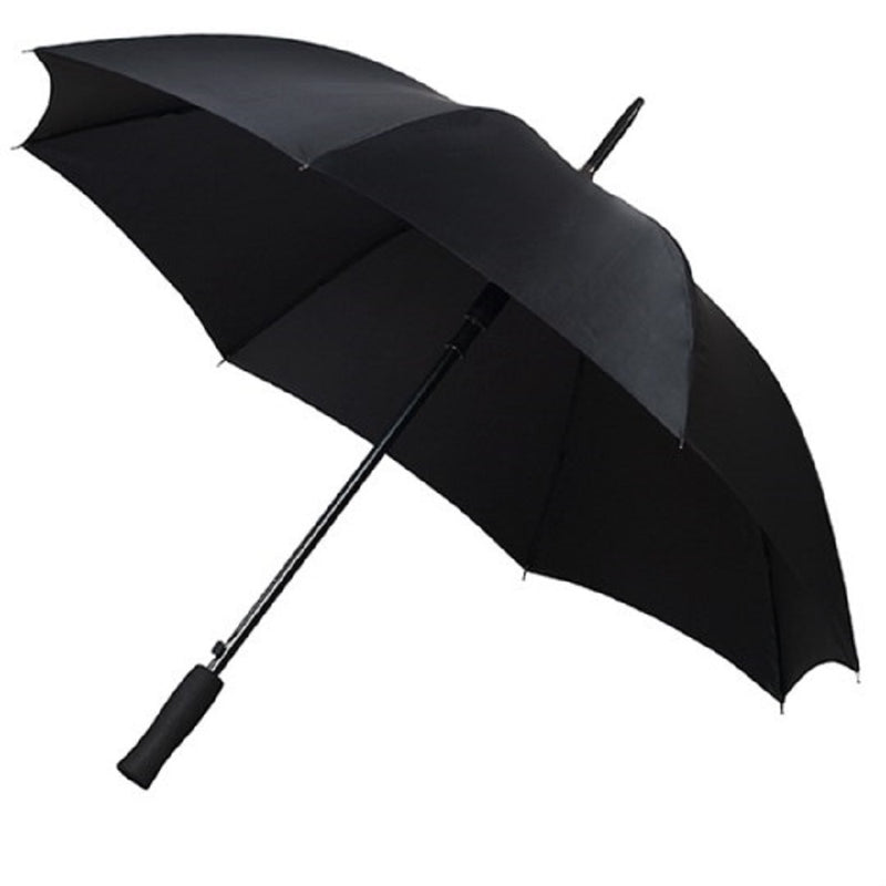 The Midi Golf Umbrella With EVA Handle - Black