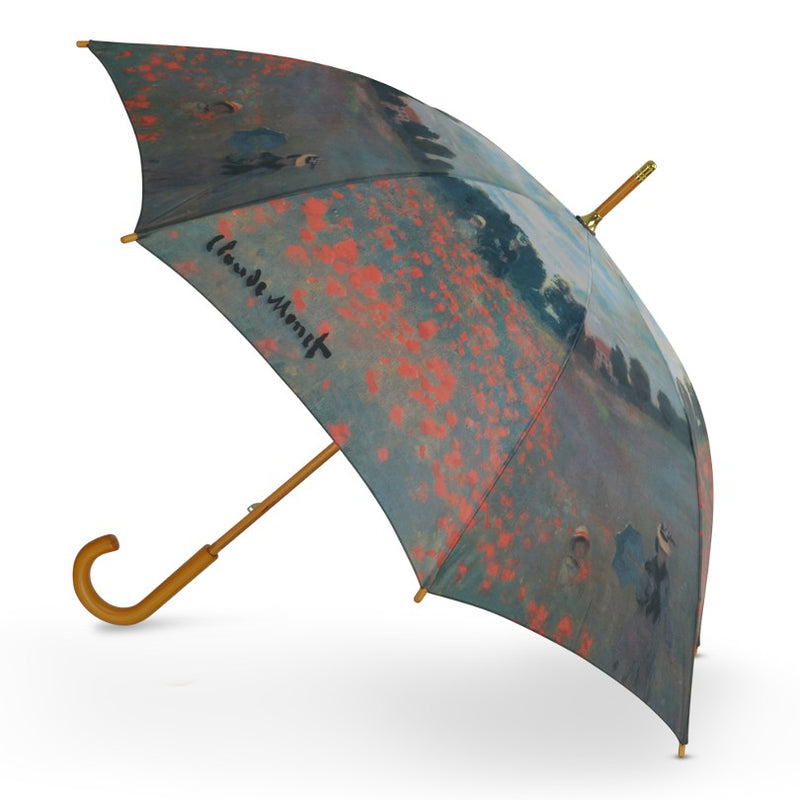 "Cascada Collection Art Print Monet ""Poppy Field"" Walking Umbrella"