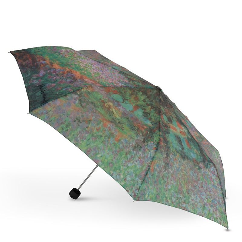 "Cascada Collection - Monet ""Garden at Giverny"" Folding Umbrella"