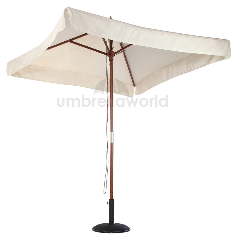 Patio / Garden 2x2m Square Parasol with Valance - Natural