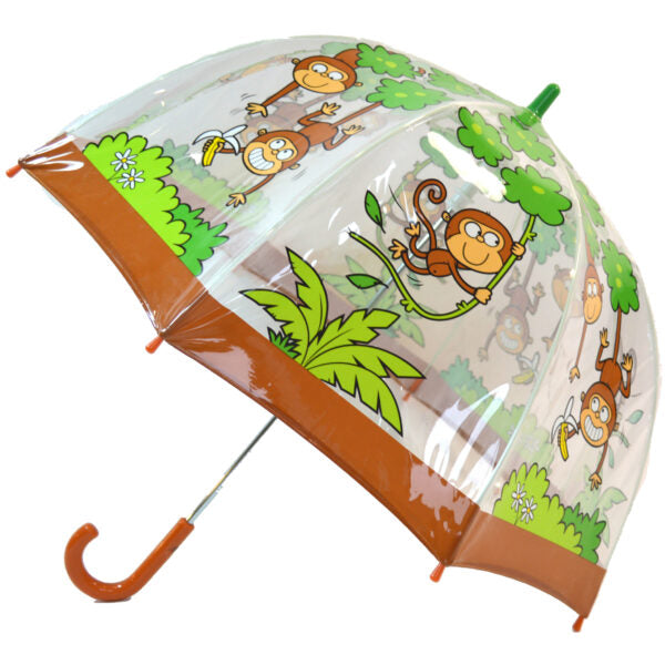 "Children's PVC Dome Monkey Umbrella by ""Bugzz"""