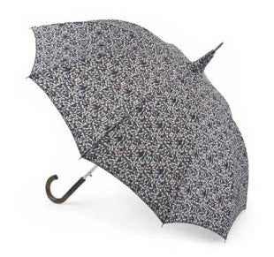 Fulton Pagoda 'Ditsy Leaf' Automatic Walking Umbrella