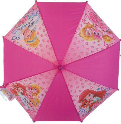 "Children's Character ""Palace Pets"" Pink Umbrella"