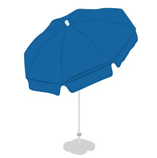 Patio / Garden / Beach Parasol Umbrella - Royal Blue